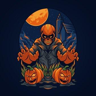 Crâne d'halloween