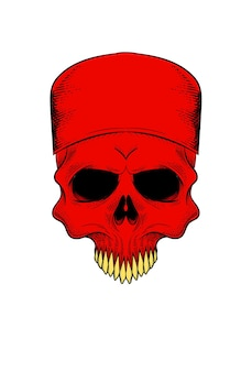 Crâne humain avec illustration vectorielle de calotte crânienne