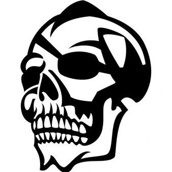 Crâne avec illustration vectorielle cache