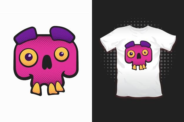 Crâne imprimé pour la conception de t-shirt