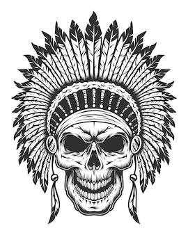 Crâne d'indien d'amérique