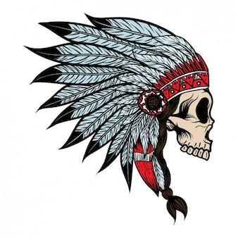 Crâne indien coloré