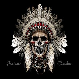 Crâne indien effrayant