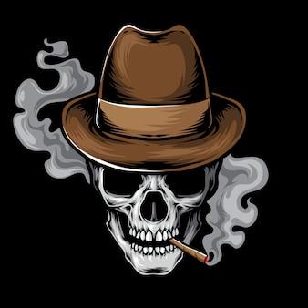 Crâne de mafia fumé