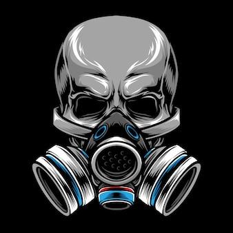 Crâne de masque à gaz