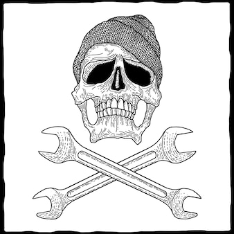 Crâne de mécanicien poster