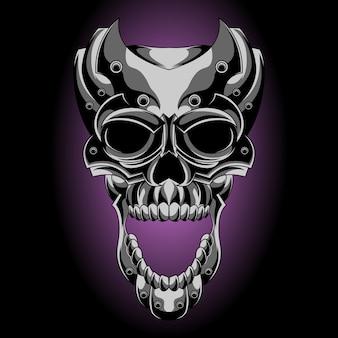 Crâne en métal hurlant