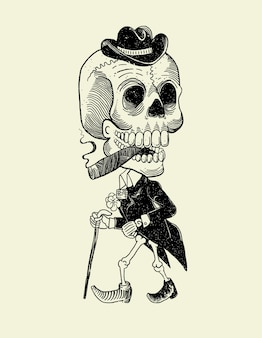 Crâne mexicain catrin