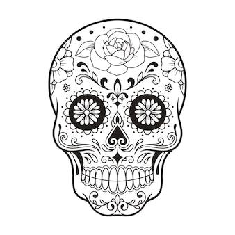 Crâne mexicain le jour de la mort