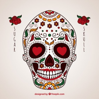Crâne mexicain ornementale
