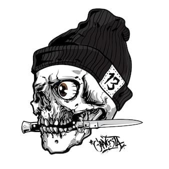 Le crâne mord le couteau