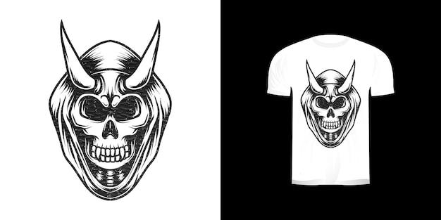 Crâne de mort-vivant illustration ligne art