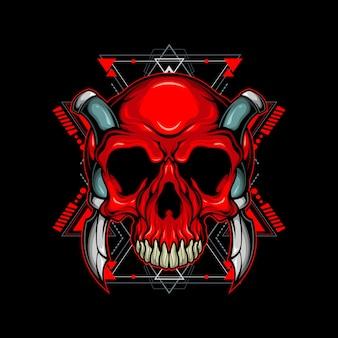 Crâne mortel géométrie sacrée