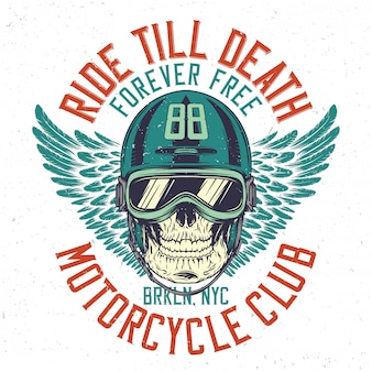 Crâne de motard