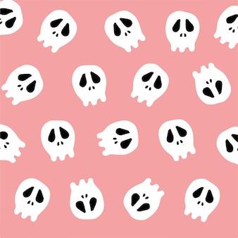 Crâne motif fond illustration vectorielle