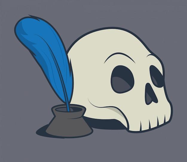 Crâne et plume