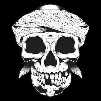 Crâne portant un bandana