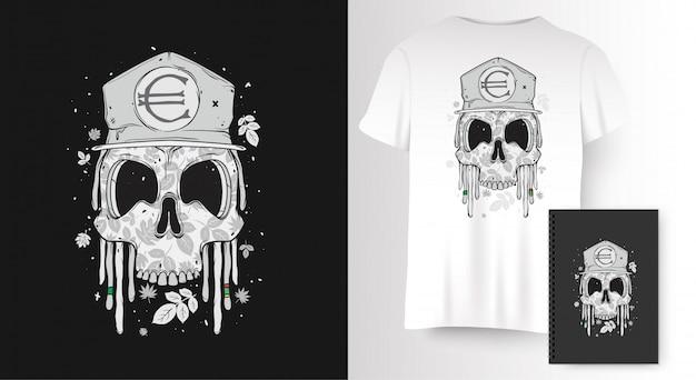 Crâne pour l'impression de t-shirt
