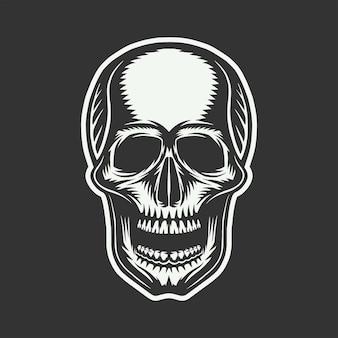 Crâne rétro vintage art graphique art graphique