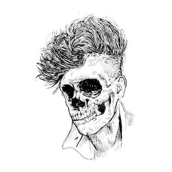 Crâne de rockabilly