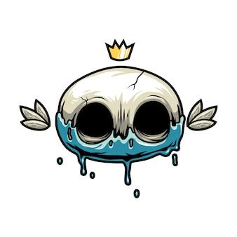 Crâne roi avec couronne