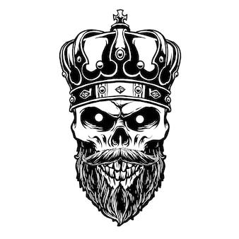Crâne de roi avec couronne