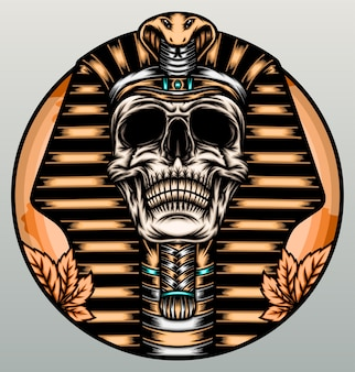 Crâne de roi pharaon.