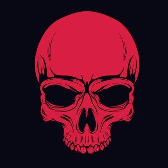 Crâne rouge