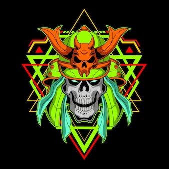 Crâne de samouraï à usage commercial