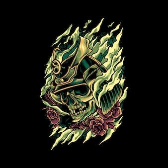 Crâne samouraï