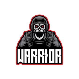 Crâne soldat guerrier esport logo