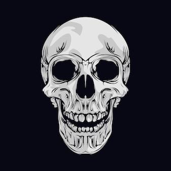 Crâne souriant