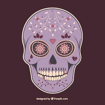 Crâne de sucre violet
