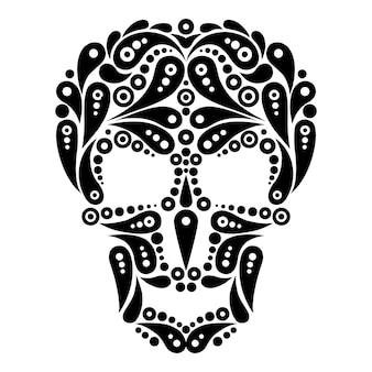 Crâne de tatouage orné