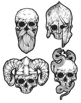 Crâne de tatouage