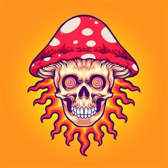 Crâne de tête de champignon