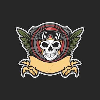 Crâne tête pentecôte emblème casque