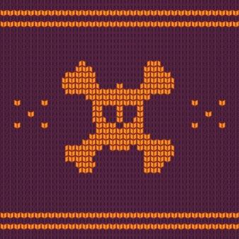 Crâne tricoté avec des os