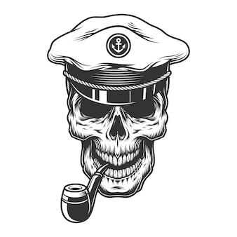 Crâne avec tuyau dans le