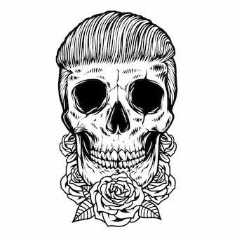 Crâne de vieille école
