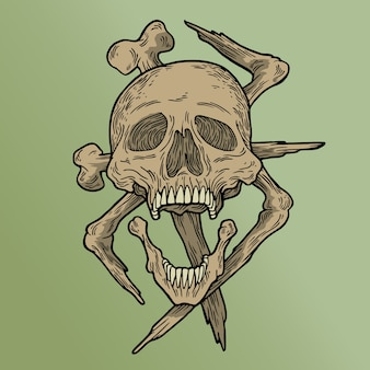 Crâne vodou