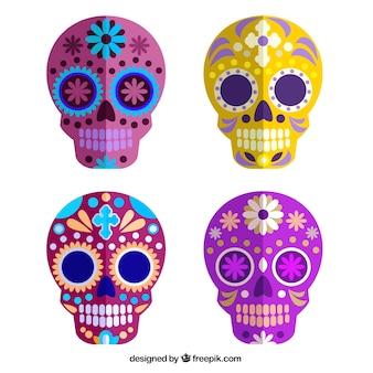 Crânes en sucre coloré