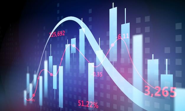 Crash boursier provoqué par le coronavirus, graphique économique avec des diagrammes, des concepts et des rapports commerciaux et financiers, concept de communication technologique abstrait bleu