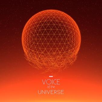 Crashing espace sphère rouge.