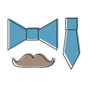 Cravate des icônes dans un style plat branché isolé sur fond blanc. symbole de cravate pour la conception, le logo, l'application, l'interface utilisateur de votre site web