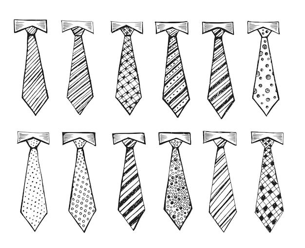 Cravate illustration dessinée à la main