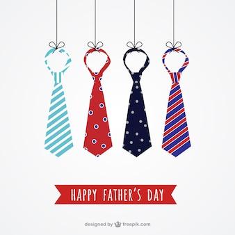 Cravates pères de carte de jour