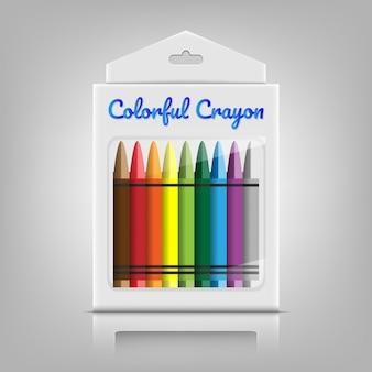 Crayon coloré avec boîte d'emballage
