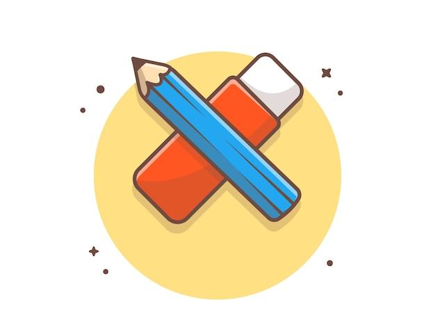 Crayon et gomme