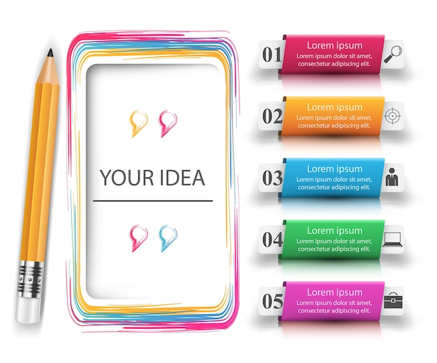 Crayon, icône de l'éducation